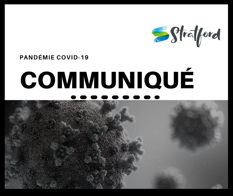 PANDÉMIE COVID-19 : Communiqué 3